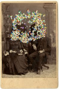Tom Butler   Aokerson Family   2014   Gouache on Albumen print   16.5×10.5cm