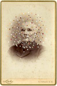 Tom Butler   Locke   2014   Gouache on Albumen print   16.5×10.5cm
