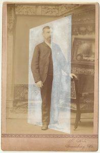 Tom Butler   Pa   2014   Gouache on Albumen print   16.5×10.5cm