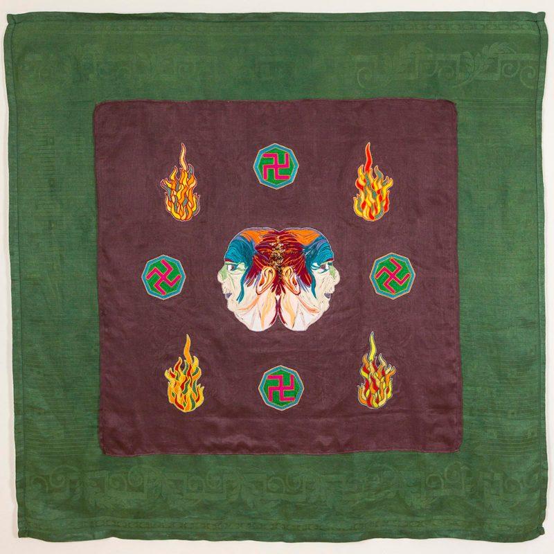 Henry Hussey   Crysalis   2015   Textiles   140x135cm