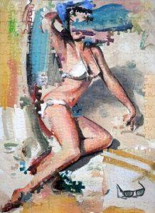 Darren Coffield | Pin up 2 | 2014 | Acrylic on die cut board | 52x41cm