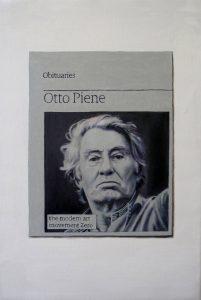 Hugh Mendes   Obituary Otto Piene   2015   Oil on linen   30x20cm