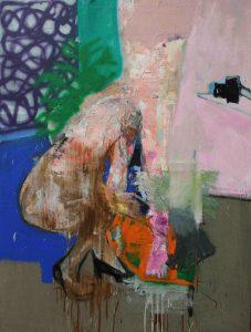 Christos Tsimaris | The Job Interview | 2015 | Oil, spray paint | 183x136cm