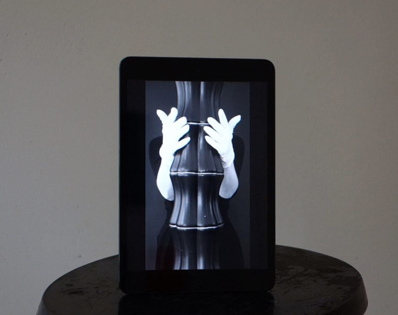 Marie von Heyl   The Ease of Handling   2015   ipad, suction lifter, HD video loop (Edition 3)   20x14x12cm