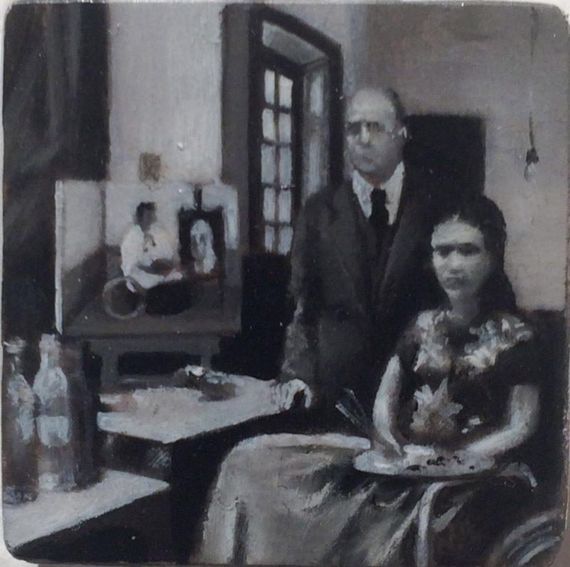 Oana Farcas   Untitled  2015   Oil on wood   3.3×3.3cm