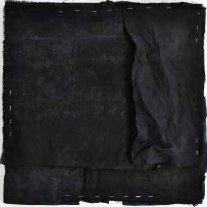 Tess Williams   Onyx II   2015   Ink, acrylic, chalk on linen & leather   56x56cm