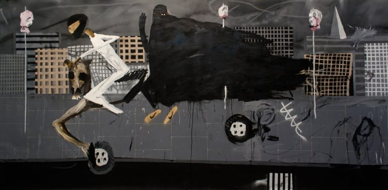 Dale Lewis | London Bridge | 2015 | Oil, acrylic, spray paint on canvas | 200x400cm
