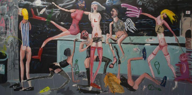 Dale Lewis | Fruits de Mer | 2015 | Oil, acrylic, spray paint on canvas | 200x400cm