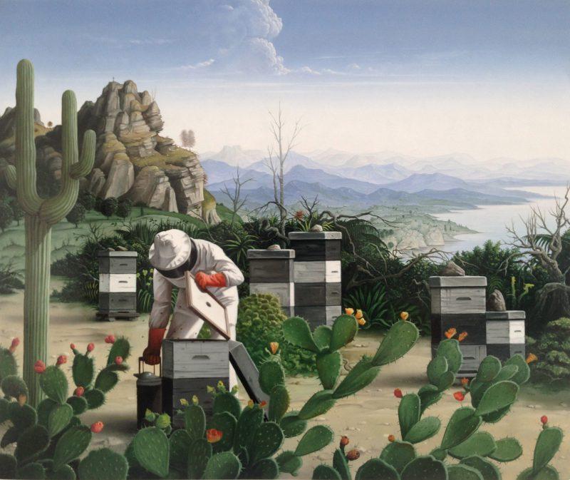 John Stark   Cactus Winds   2014   Oil on wood panel   42x50cm