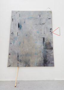 Lorraine Fossi   Laguna   2015   Oil, acrylic, marble dust, tape, found objects, canvas   170x140cm