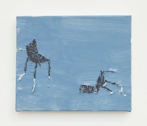 Darren Marshall | Riot Chairs | 2014 | Acryilc and linen on canvas | 25×30.5cm