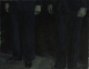 Michael Slusakowicz | Untitled (Trousers 2) | 2012 | Oil on canvas | 36×45.5cm