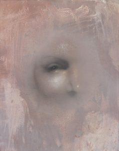 Gavin Tremlett | Hybris 5 | 2016 | Charcoal, graphite, oil on linen | 50x40cm