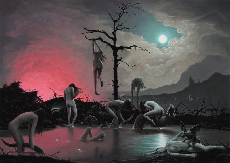 John Stark   The Phantasms of Eros   2015   Oil on wood panel   42x60cm
