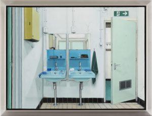 John Stark | Exit | 2016 | Oil on wood panel (framed) | 22x30cm