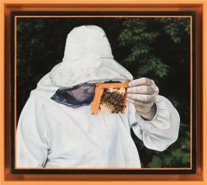 John Stark | Old Spotter | 2016 | Oil on wood panel (framed) | 26x30cm