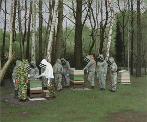 John Stark | Wage War | 2016 | Oil on wood panel | 58x70cm