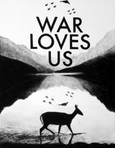 Florian Heinke | War Loves Us 03 | 2016 | Acrylic on untreated canvas | 90x70cm
