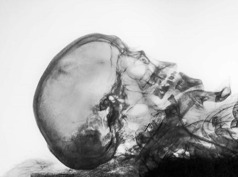 Eric Manigaud | Mummy of a Bearded Man, Profile 2 | 2016 | Pencil, graphite powder on paper | 60x80cm