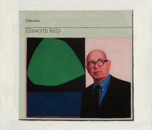 Hugh Mendes   Obituary Ellsworth Kelly   2016   Oil on linen   30x35cm