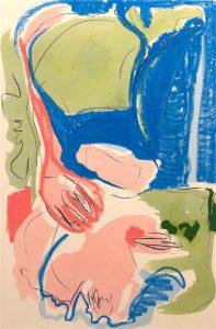 Lucienne O'Mara   A Lively Look at Legs   2016   Charcoal, oil bar, oil paint on unprimed canvas   150x100cm