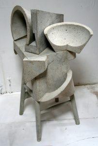 Jaana Fowler   Cut Vessels   2013   Cement, wood   95x75x50cm