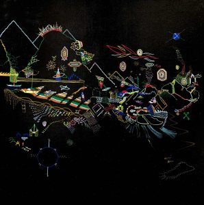 Alexis Avlamis   The Universe   2015   Acrylic on canvas   100x100cm