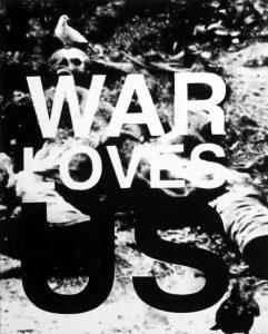 Florian Heinke | War Loves Us 02 | 2014 | Acrylic on untreated canvas | 100x80cm