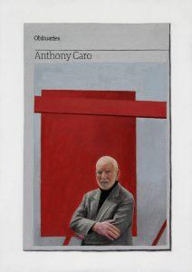 Hugh Mendes   Obituary: Anthony Caro   2015   Oil on linen   35x25cm