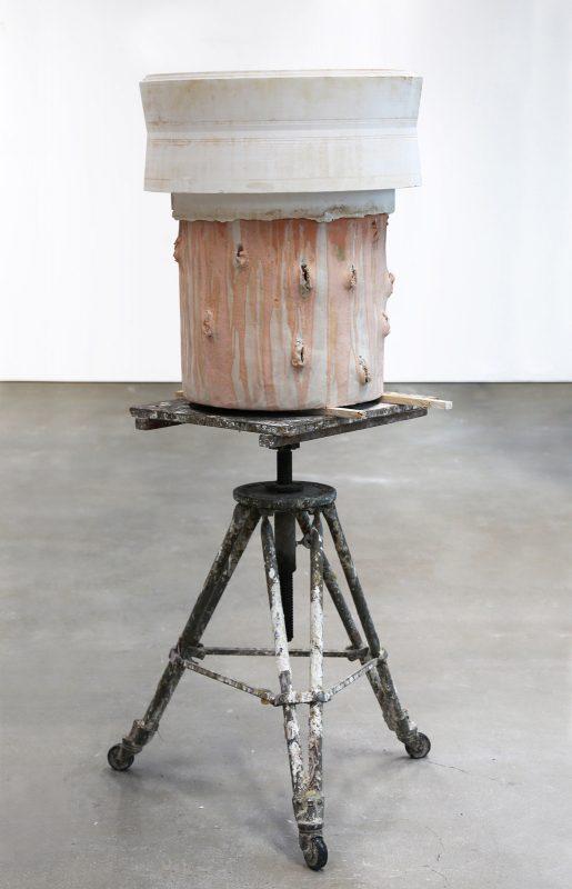 Eva Masterman | Heavy Load | 2016 | Plaster, ceramic, wood, sculpture stand | 50x70cm