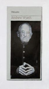 Hugh Mendes | Obituary: Andrew Wyeth | 2015 | Oil on linen | 35x20cm