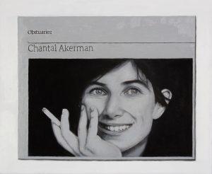 Hugh Mendes | Obituary: Chantal Akerman | 2016 | Oil on linen | 25x30cm