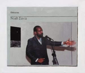 Hugh Mendes | Obituary: Noah Davis | 2016 | Oil on linen | 30x35cm