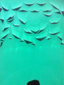 Alexis Harding | The Escapee | 2016 | Oil and acrylic on MDF aluminium frame | 79×58.5cm