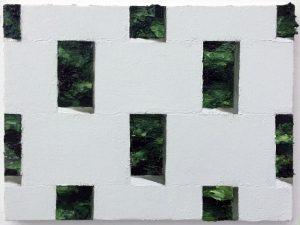 Jonathan Wateridge | Enclave Study – Wall | 2016 | Oil on linen | 30x40cm