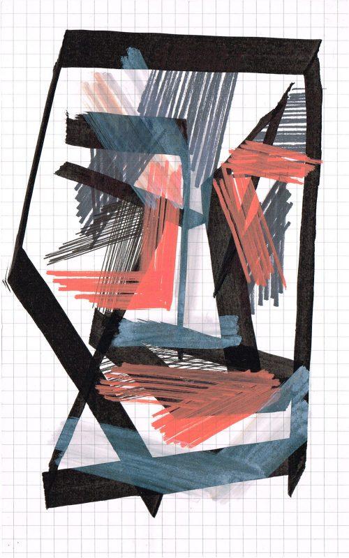 MC Llamas   Graffiti Head 2   2016   Marker pen on paper   21x13cm