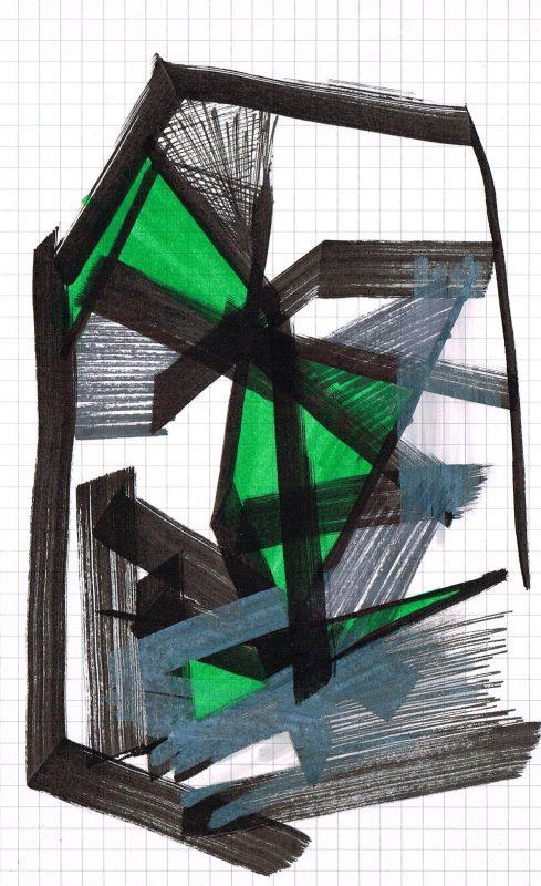 MC Llamas   Graffiti Head 49   2016   Marker pen on paper   21x13cm