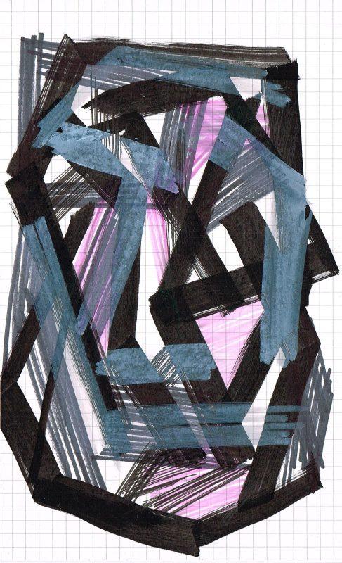 MC Llamas   Graffiti Head 23   2016   Marker pen on paper   21x13cm