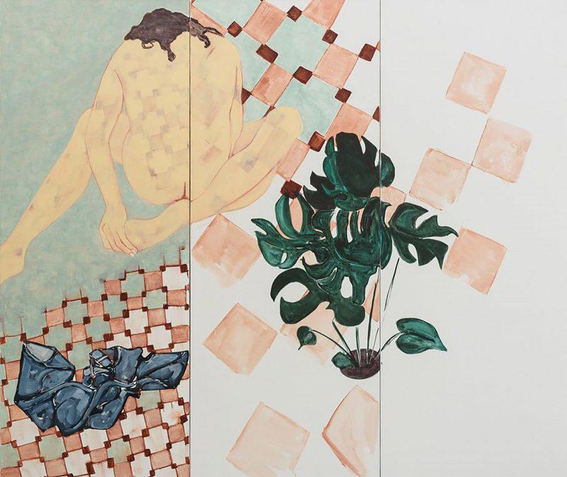 Sara Berman | Cheese Plant Lovers | 2016 | Oil on linen | 140x165cm