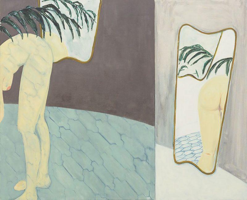 Sara Berman | Internet Bum | 2016 | Oil on linen | 130x160cm