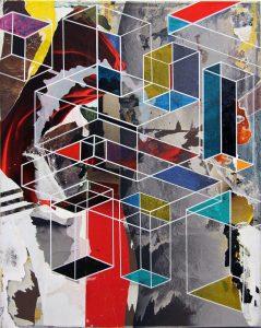 Hendrik Zimmer   Untitled   2016   Mixed media on canvas   100x80cm