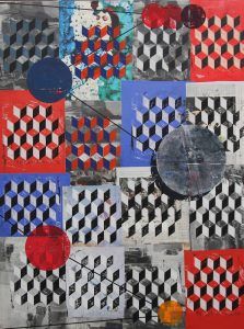 Hendrik Zimmer   o.T. (Again for ever)   2016   Mixed media on canvas   160x120cm