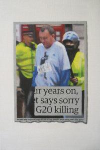 Hugh Mendes   G20 Killing   2015   Oil on linen   30x20cm