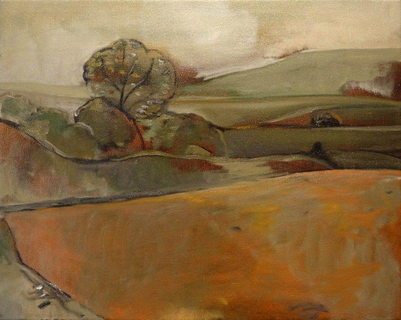 Peter Ashton Jones | The Fallow Field | 2017 | Oil on canvas | 41x51cm