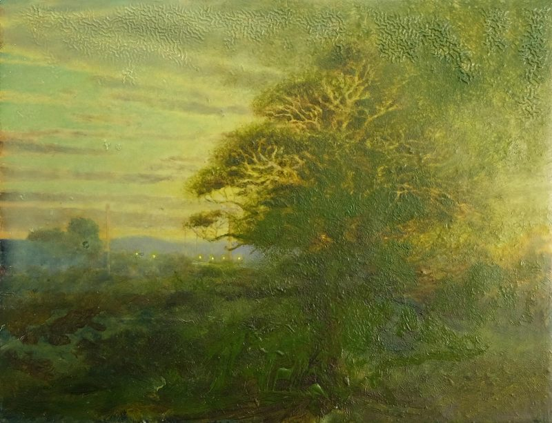 Sam Douglas   Untitled   2017   Oil, varnish on board   15x19cm