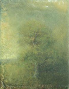 Sam Douglas   Untitled   2016   Oil, varnish on board   15x12cm