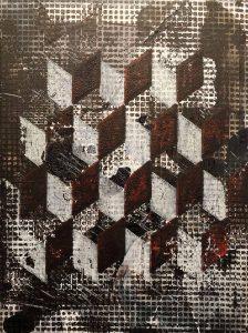Hendrik Zimmer   o.T.   2016   Mixed media on canvas   40x30cm