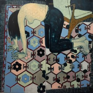 Sara Berman   Threadcount   2017   Oil on linen   120x120cm