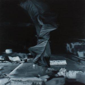 David Haughey   Everything is so novel, so novel it is like a rainstorm   2016   Oil on canvas   100x100cm