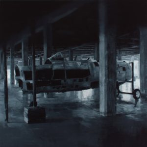 Haughey,-David-Imagine-a-square,-a-living-beautiful-square-2016-Oil-on-canvas-100x100cm
